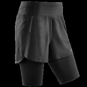 Run 2 in 1 shorts 3.0 - Black