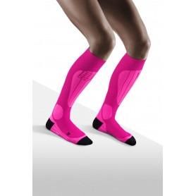 Ski thermo strømper - Pink/Flash Pink