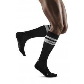 80's Compression Socks - Black / White