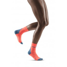 Compression Short Socks 3.0 - Coral / Grey