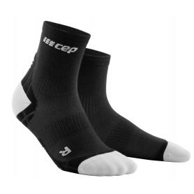 Ultralight Compression Short Socks - Black / Light Grey