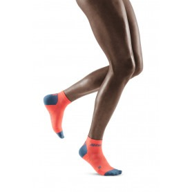 Compression Low Cut Socks 3.0 - Coral / Grey