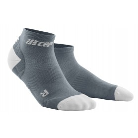 Ultralight Compression Low Cut Socks - Grey / Light Grey