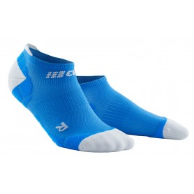 Ultralight Compression No Show Socks - Electric Blue / Light Grey