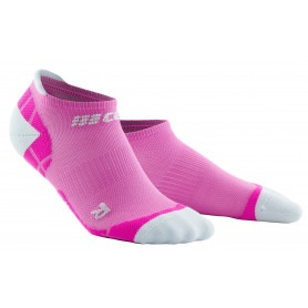 Ultralight Compression No Show Socks - Electric Pink / Light Grey