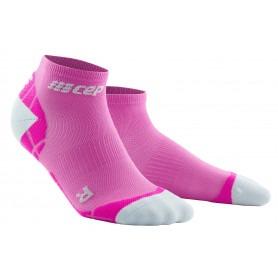 Ultralight Compression Low Cut Socks - Electric Pink / Light Grey
