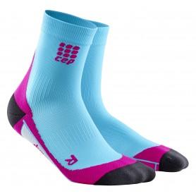 Løbestrømpe, Kort - Hawaii Blue/Pink