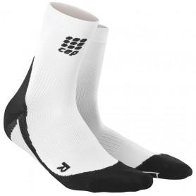 Løbestrømpe, Kort - White/Black