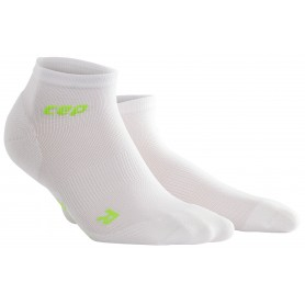 Ultralight Løbestrømpe, Ankel (low-cut) - White/Green