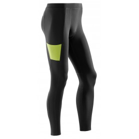 Training tights, lange - Black/Lime