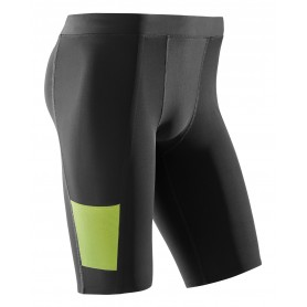 Performance løbetights, korte - Black/Lime