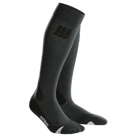 Outdoor merino strømper - Grey/black