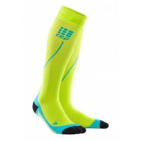 Pro+ 2.0 Kompressionsstrømpe - Lime/Hawaii Blue
