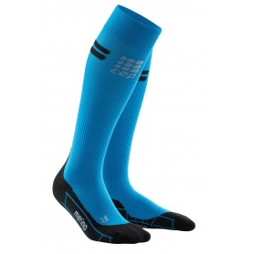 Pro+ merino kompressionsstrømpe - Electric Blue/Black