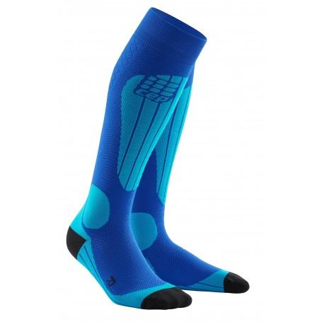 Ski thermo strømper - Blue/Azure